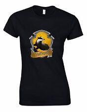 Harry Potter 'Hufflepuff' Crest Woman Cut Tshirt Tee Top AL03