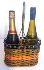 Metal Estante Botella Vino,sujeta-botellas para 2 BOTELLA,Sobre Encimera Cesto