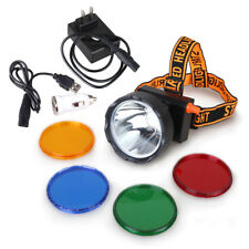 Rechargeable 8W LED Miner Light Headlight Mining Lamp Hunting Fishing Headlight