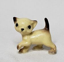 Hagen Renaker miniature Cat Siamese Tiny Kitten Ceramic Figurine doll house mini