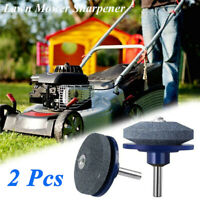 2Pcs Mower Blade Drill Lawnmower Lawn Mower Sharpener For Power Drill Hand Drill