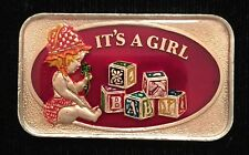 IT'S A GIRL ENAMEL 999 SILVER ART BAR 1 Troy Oz Enameled VERY RARE COLLECTIBLE