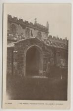 Lincolnshire postcard - The Porch, Theddlethorpe, All Saints Church - RP