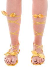 Ladies Sandals Fancy Dress Fairy Greek Roman Goddess Egyptian Adjustable New