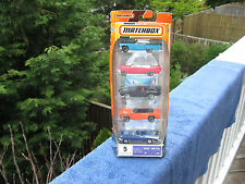 Matchbox 5 Pack Die Cast Metal 1:64 Scale Street Cars New & Sealed!