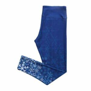 Blue Winter Design Leggings XSmall
