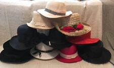 Mix Lot Of 10 Ladies Vintage Hats Derby Funeral Church
