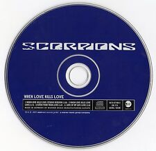 "SCORPIONS ""WHEN LOVE KILLS LOVE"" RARE GERMAN CD MAXI"