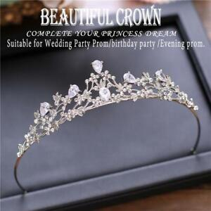 Crystal Rhinestone Tiara Crown Headband Bridal Headpiece Wedding Hair Accessory