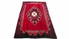 """Antique Turkish vintage unique handmade hand-knotted thick rug 42""""x 78"""" wool #96"""