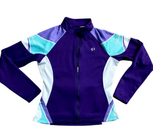Pearl Izumi Womens Purple Full Zip Long Sleeve Cycling Jersey Top Size S