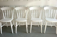 Brand New Solid Wood Spindle Back Farmhouse Kitchen Dining Chairs in White