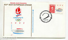 France FDC Premier Day, Games Olympic Albertville, Luge, Stamp 2679