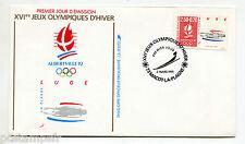 FRANCE FDC premier jour, JEUX OLYMPIQUES ALBERTVILLE, LUGE, timbre 2679