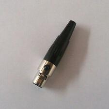 Female 4Pin plug Mini XLR Audio Microphone connector Adapter 50pcs