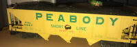 Bachmann '98229 L Hopper' Peabody G Gauge Coal Trailer - Nice Condition