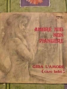 RARO 45 GIRI DI Sandra – Amore Mio Non Piangere / Gira L'Amore(Caro Bebè)-1973