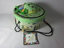 Mary Engelbreit Fabric Covered Sewing Basket Pin Cushion