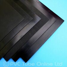Neoprene Rubber Sheet - Solid Black Smooth - 1mm & 1.5mm - END OF ROLL DEALS