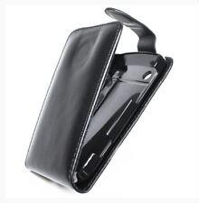 Housse Etui à rabat sur mesure façon cuir noir pour BLACKBERRY Torch 9900 Bold