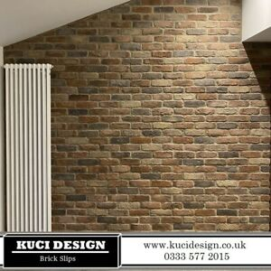 Camden Multi Brick Slips, Wall Cladding, Feature Wall, Brick Tiles SAMPLE