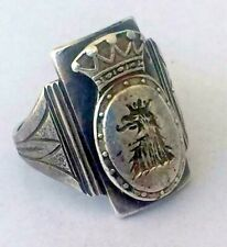 FABERGE Antique Imperial RUSSIAN Men ring ,84 silver