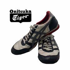 ASICS Onitsuka Tiger Unique Rare HN201 White/Black/Red Sneakers Mens Size 13