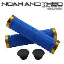 Noah and theo DOBLE Acopla bicicleta de montaña apretones manillar Azul Dorado
