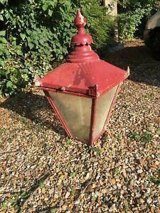 Large Vintage Street Lantern Lamp Top - cast aluminium