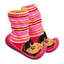 Dora Non-Slip Rubber Dots Slipper Socks Baby Toddler Girls Size 24 mo Shoe 6.5