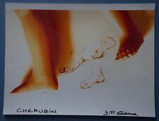"""J-P ETIENNE  - Photo   """" CHERUBIN - PIED D'ANGE  """"  Signé"""