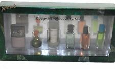 Designer Fragrance Collection by Quality Group 6 Piece Men's Mini Gift Set NIB