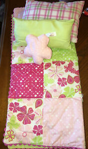 American Girl bloom bed bedding set- comforter and pillows EUC