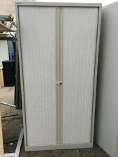 Goose Grey  Metal Storage Tambour Cupboard for home/office 3 tier