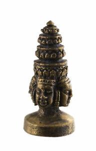 Phra phrom Figurine Brahma 4 faces Trimurti-Amulette hindoue-Talisman 2257