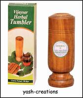 VIJAYSAR Wooden Herbal Glass Tumbler 60 ml Ayurveda Wood Glass For Health Care