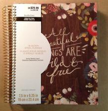 """NEW! 2018-2019 Creative Year """"WILD & FREE FLOWERS"""" 18-Month Spiral Planner"""