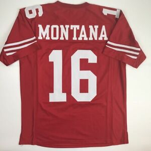 New JOE MONTANA San Francisco Red Custom Stitched Football Jersey Size Men's XL