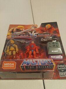 He-Man Vs Beast Man Mega Construx Pro Builders Masters of the Universe MOTU New