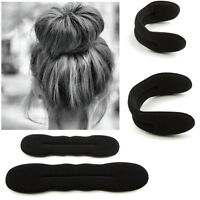 2pcs Magic Sponge Clip Foam Donut Hair Styling Bun Curler Maker Ring Twist Tool