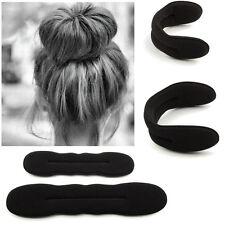 2 pcs (S+L) Magic Sponge Foam Hair Bun Maker Twist Tool Roller Donut Former Ring