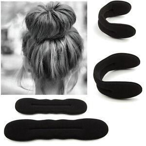 2pcs Sponge Clip Foam Donut Hair Styling Bun Curler Maker Ring Twist Tool