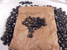 Hundreds Black Glass Cabochon Button Tops Vintage Europe Original Bag