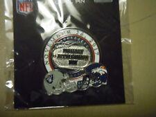 "OAKLAND RAIDERS vs Denver Broncos - ""Military Appreciation"" Pin 11/26/17"