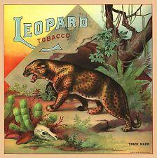 Petersburg, Virginia Leopard Tobacco Crate Box Label Art Poster Print