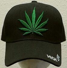 MARIJUANA HIGH LIFE CANNABIS CHRONIC KUSH POT HEMP LEAF WEED PLANT SWAG CAP HAT
