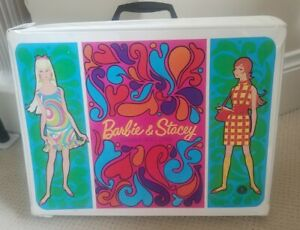 Mod Barbie Stacey Double Doll Case Mattel 1967 Beautiful Grapics HTF Excellect
