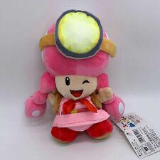 """Captain Toad Toadette Plush Treasure Tracker Super Mario Soft Toy Doll 8"""" 1pc"""