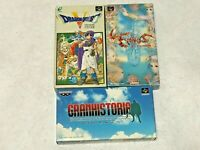 Japan RPG Lot3 Dragon Quest 5 Warrior etc Nintendo SFC Super Famicom SNES NTSC-J