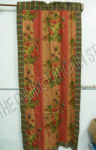 2 Rod Pocket Drapery Window Panels Drapes Curtains Hayden Red Green Floral 42x84